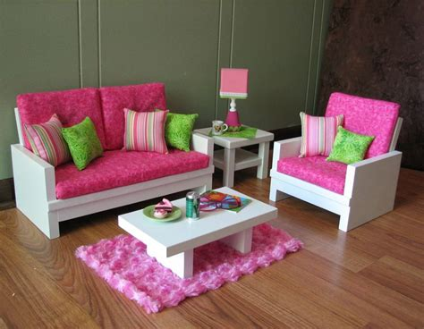 doll living room furniture 18 quot doll furniture american sized living room loveseat cha