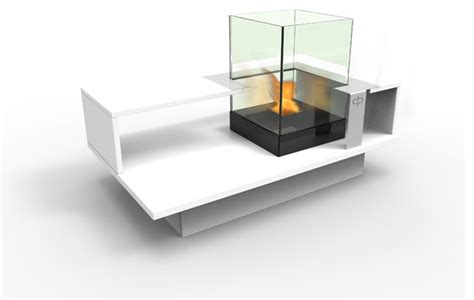 ethanol fireplace coffee table level compact indoor coffee table with built in bio
