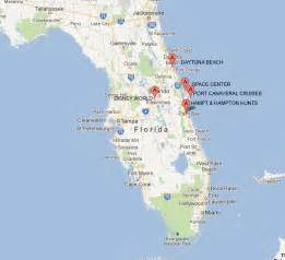 central florida attractions map