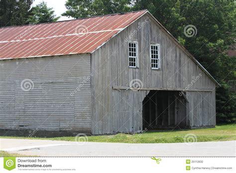 Amish Metal Barn weathered grey amish barn with metal roof stock photo image 25112632