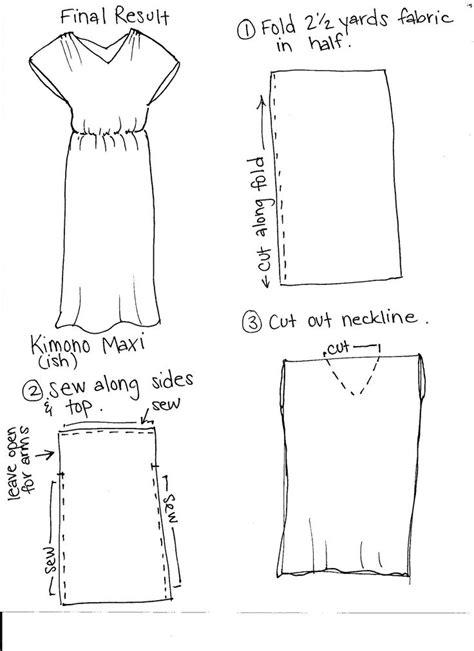 kimono pattern drafting diy maxi dress pattern drafting pinterest kimonos