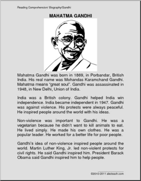 mahatma gandhi short biography video biography mahatma gandhi primary elem abcteach