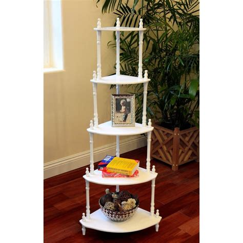 home depot decorative shelving homecraft furniture 5 tier corner decorative shelving rack