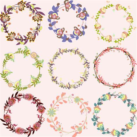 cornici vettoriali set di cornici vettoriali multicolori floreali vettoriali