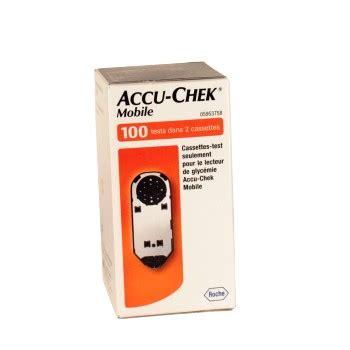 accu chek cassette accu chek mobile cassette bande test lecteurs de