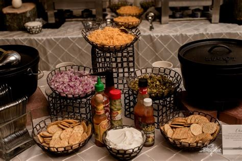 Chili Bar Toppings by 17 Best Images About Weddings And Receptions You Ll Envy