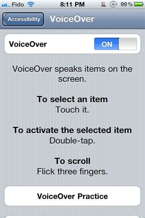 voiceover  iphone imore