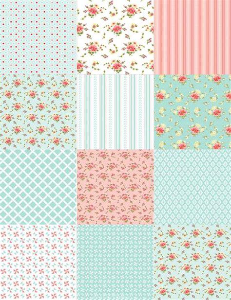 Patchwork Sheets - edible icing sheet patchwork pink blue design