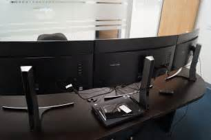Ikea Stand Up Desks Pc Gaming On Samsung S Curved Monitors Gamecrate