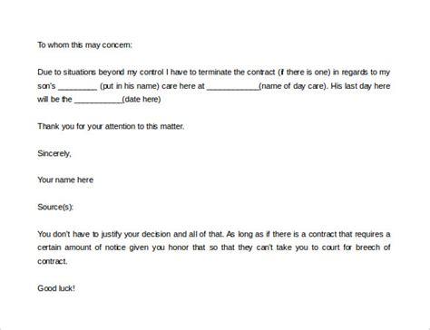 kindergarten cancellation letter daycare termination letter beneficialholdings info