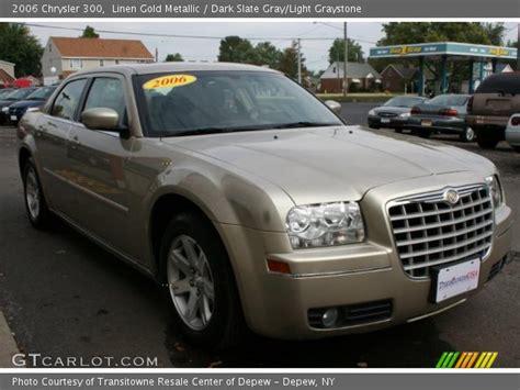 Gold Chrysler 300 by Linen Gold Metallic 2006 Chrysler 300 Slate Gray