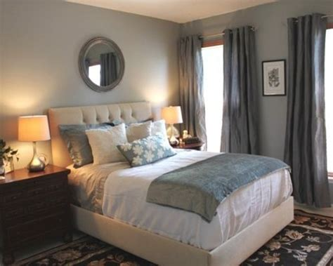 Gray White Bedroom grey blue bedroom houzz