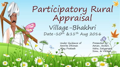 Pra Participatory Rural Appraisal participatory rural appraisal