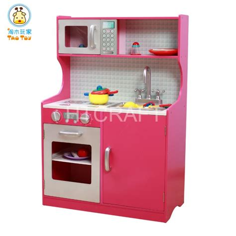 Play Kitchen Sink Parts Tk006 Fushia Pretend Play Kitchen Set With Micro Stove And Sink China Assembly
