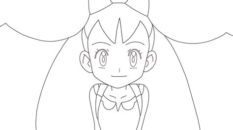pokemon iris coloring pages lineart pokemon iris airisu by setsunakute ii on