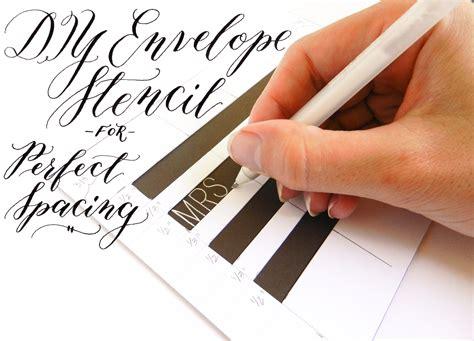 printable envelope writing guide diy envelope stencil for perfect spacing the postman s knock