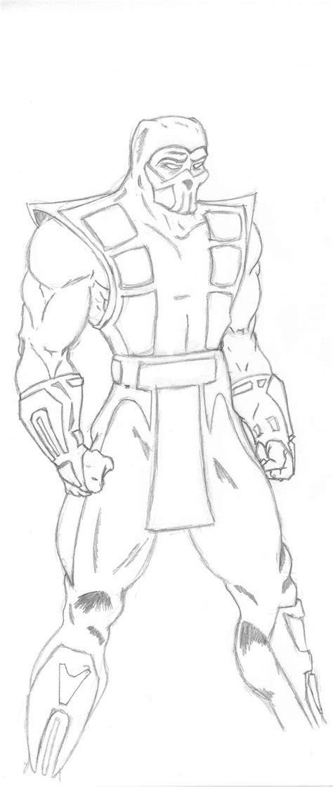 Good Mortal Kombat Coloring Pages Subzero Printable Vire Coloring Pages