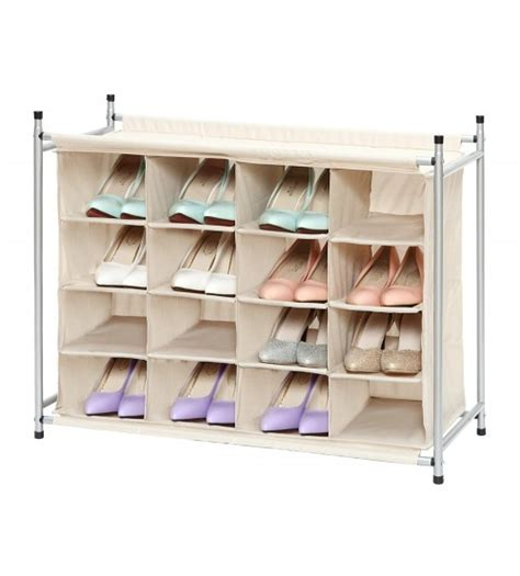 cubby shoe storage storagemaniac 16 compartment shoe cubby 16 pair chocolate