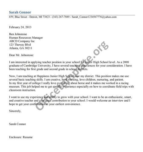 Cover Letter For Fresh Graduate Teaching Application Letter For Fresh Graduate