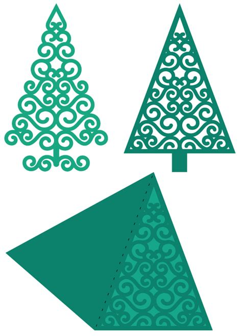 3d swirly christmas tree