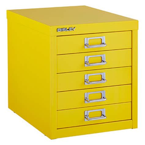 bisley yellow  drawer cabinet  container store