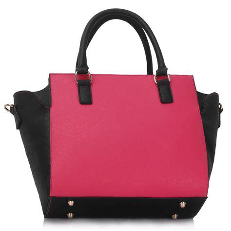 wholesale black pink tote bag