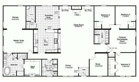 5 bedroom mobile home floor plans 5 bedroom modular homes floor plans lovely best 25 modular