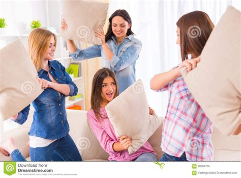 Free Living Room Fighting Of Stock Image Image Of Pillow Sitting