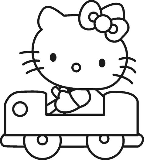 free coloring pages kids kitty coloring sheet