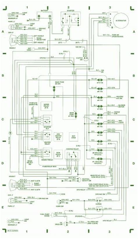 1990 isuzu 4 215 4 2 6l efi fuse box diagram circuit