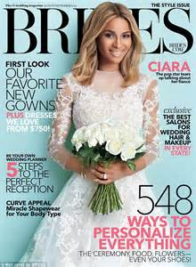 Brides Magazine by Ciara Dishes On Wedding Which Will Include Eight