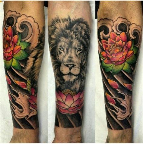lotus tattoo with lion 43 best lotus tattoos images on pinterest tattoo designs