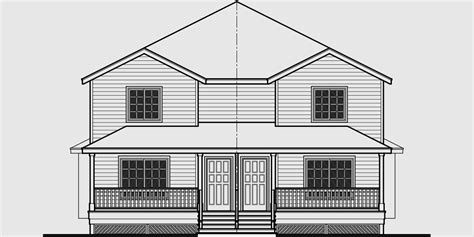 Narrow Lot Duplex House Plans Narrow And Zero Lot Line Duplex House Plans In Canada