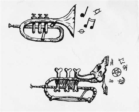 trumpet tattoo designs simple trumpet design