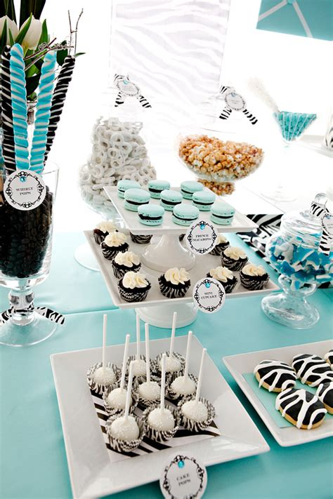 zebra themed birthday party ideas sweet combo bold zebra tiffany blue hostess with the