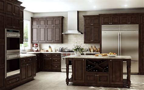mocha kitchen cabinets springfield mocha glaze all wood cabinets