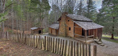 Oliver Cabin by Elijah Oliver Place Cades Cove Great Smoky Mountains