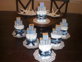 Nautical Theme Diaper Cake - baby block diaper cake baby shower centerpieces navy and baby