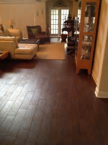 Tile Flooring Living Room Porcelain Plank Wood Look Tile Installations Ta Florida Contemporary Living Room Ta
