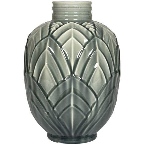 Deco Vase by Vallauris Deco Majolica Vase At 1stdibs