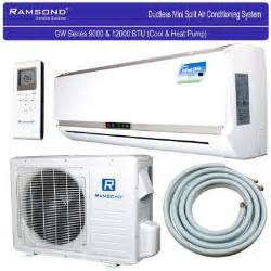 home depot split ac btu 1 ton ductless mini split air conditioner heat