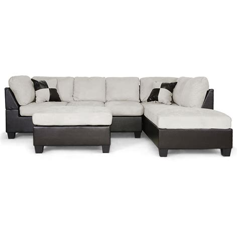sectional sofas wi mancini sectional ottoman microfiber seat right