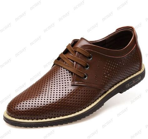 s pu leather lace up formal dress shoes mens summer