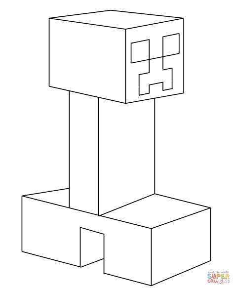 minecraft coloring pages creeper face creeper from minecraft coloring page free printable