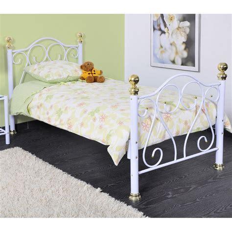 lit blanc 90x190 cm en m 233 tal fer forg 233 st tropez 90x190cm