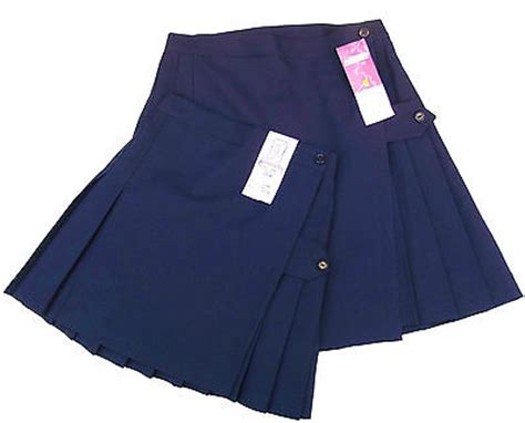 hockey skirt pleated school kilt navy blue