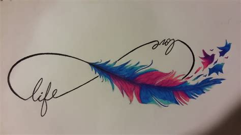 infinite feather by ink side on deviantart