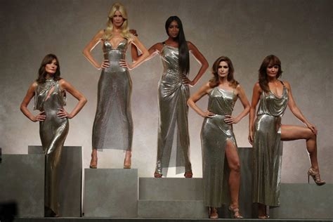 Ten Years On Pay Tribute To Gianni Versace by The Original Supermodels Reunited But Where S And