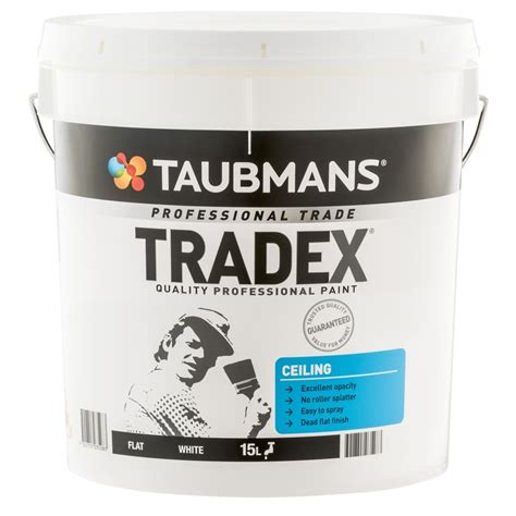 Flat White Ceiling Paint by Taubmans Tradex 15l White Flat Interior Ceiling Paint