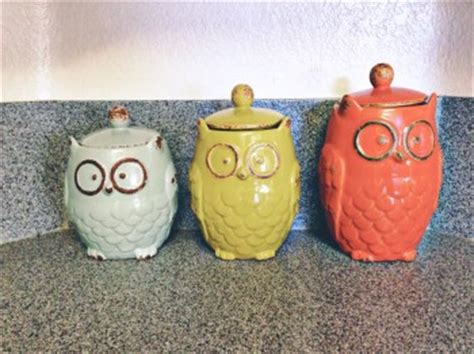 owl canisters for the kitchen bringing into the mundane decorating your kitchen